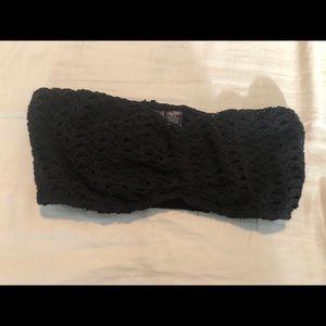Lace black bandeau